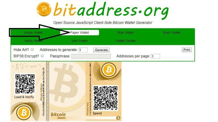Bitcoin papírová peněženka - jak vytvořit Bitcoin papírovou peněženku?, Papírová Bitcoin peněženka