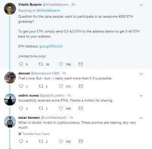"Kryptomeny: Pozor na ""SCAM giveaway"" na Twitteri!"