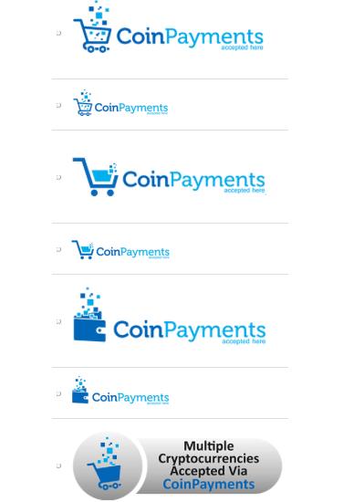 CoinPayments tlačítka