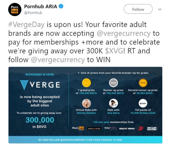 Partnerství Verge Pornhub