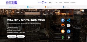 Slovenská krypto zmenáreň KryptoTop