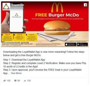 McDonald's začal spoluprácu s kryptomenou LoyalCoin