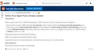 Kryptomeny: Tether priznáva, že nieje 100% krytý USD
