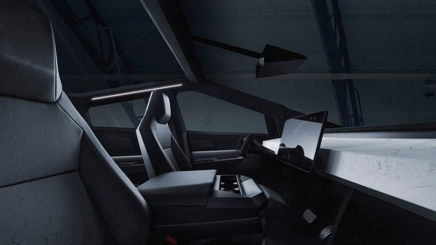 Tesla cybertruck interiér