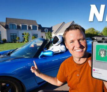 YouTuber vyměnil Tesla Roadster za NFT